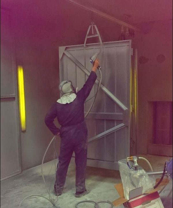 Garage Door Production - Door Spraying