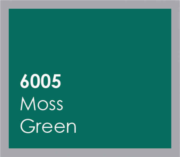 powered coated garage doors available in moss green