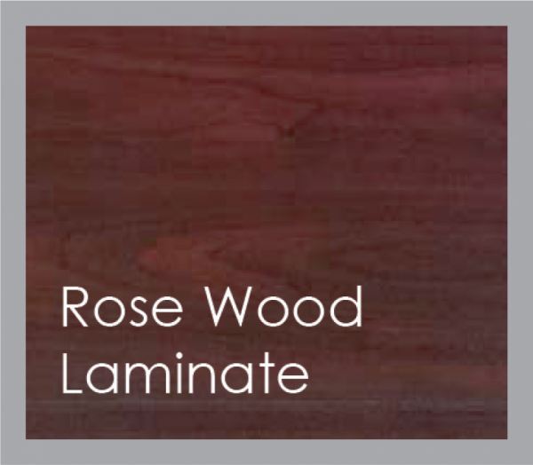 powered coated garage doors available in rose wood laminate