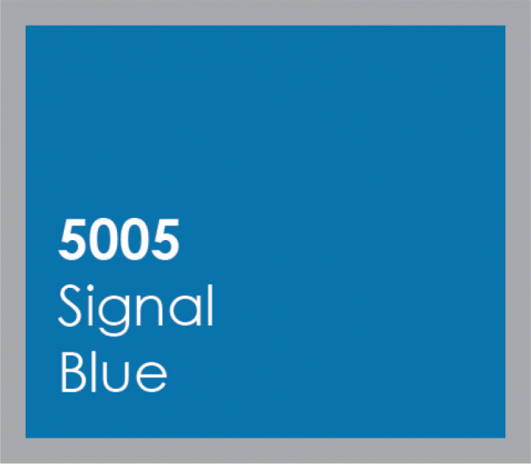 powered coated garage doors available in signal blue