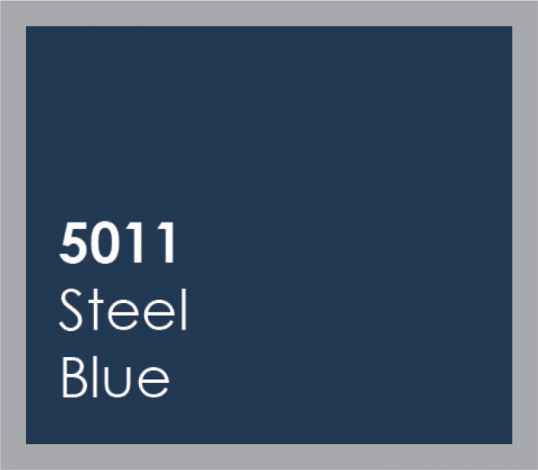 powered coated garage doors available in steel blue