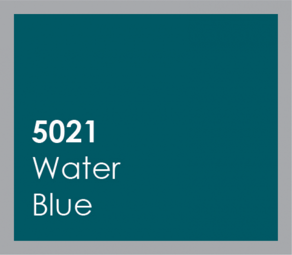 powered coated garage doors available in water blue