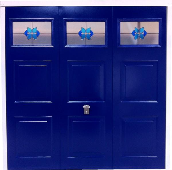 Garage door window - Bluebell