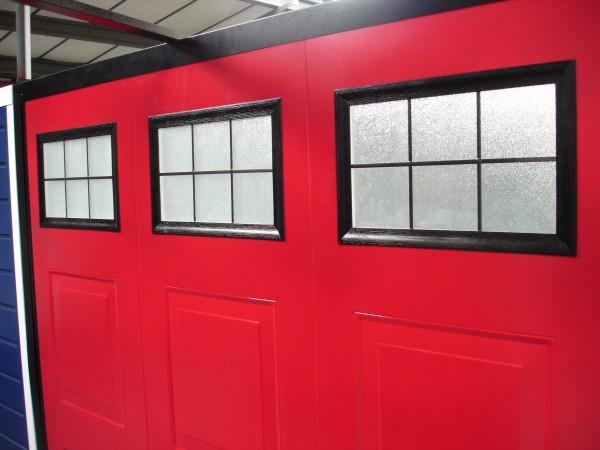 Garage door window - red