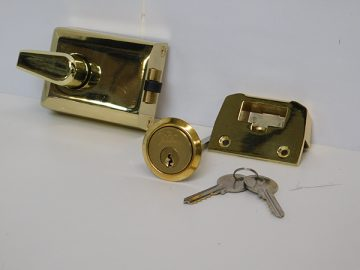 side hinged garage door lock