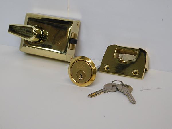 side hinged garage door lock